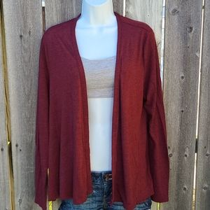 Maroon Open Cardigan from Old Navy